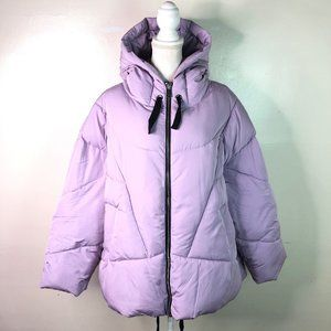 Free People Hailey Lilac Puffer Hooded Jacket NWOT